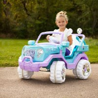 Frozen 图案儿童电动车