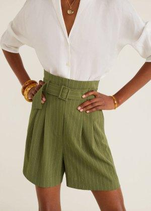 Stripes print shorts -  Women | Mango USA