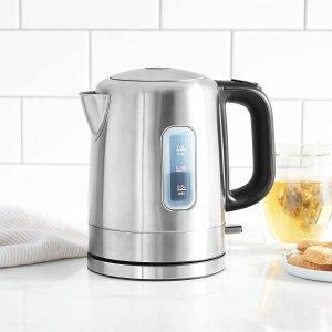 $21.38(原价$25.2)AmazonBasics 不锈钢电热水壶1L 安全防干烧