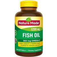 Nature Made 鱼油 1200mg+欧米伽3 100粒