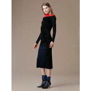 Diane von FurstenbergMockneck Knit Midi Dress