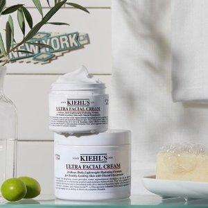 满$50送蓝精灵精华中样最后一天:Kiehl's 科颜氏护肤品热卖 收高保湿霜、牛油果眼霜