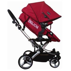 $158.64(原价$558.9)史低价:Englacha 婴儿推车 红色款 座椅360°旋转功能