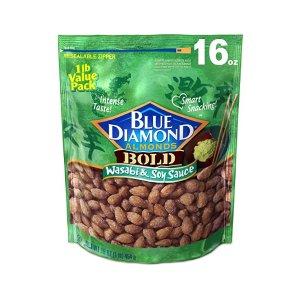 Blue Diamond Almonds美国大杏仁 芥末酱油味 16 Ounce