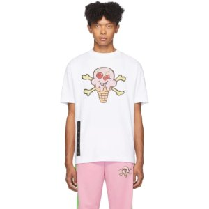 Palm angels- White ICECREAM Edition Skull T-Shirt