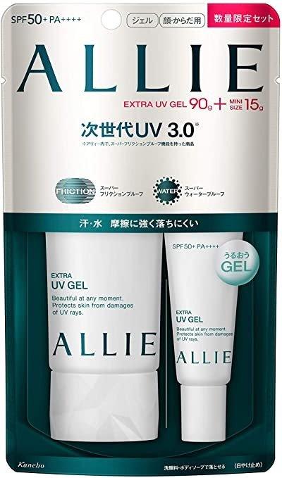 ALLIE UV防晒 啫喱N 90g + 迷你 15g 限定套装 SPF50+/PA++++