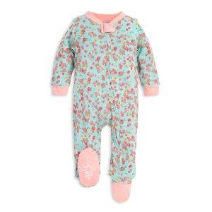 Burt's Bees Baby女婴有机棉连体睡衣 宽松版