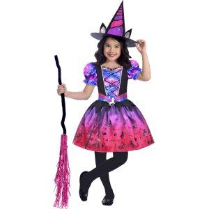 儿童 女巫 万圣节装扮服