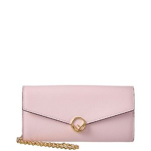 FendiLeather Continental Wallet on Chain