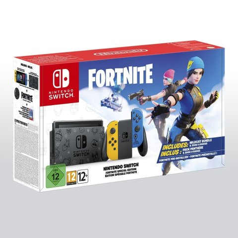 仅售€299 11月10日发货Nintendo Switch 堡垒之夜限定版上市 黄蓝配色含Fortnite游戏