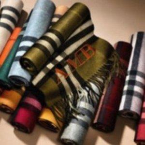 全球直邮 颜色全11.11独家:低至7折 Burberry 经典羊绒围巾快快收