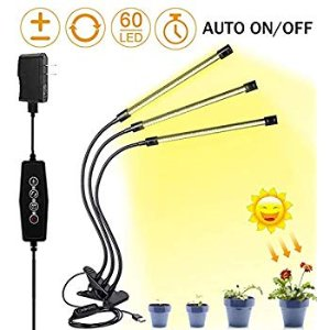 Amazon.com : Brite Labs LED Grow Lights for Indoor Plants and Seedlings, Triple Head Plant Growing Lamps with 60 Full Spectrum Bulbs, Programmable Timer Allows Auto On Off, Adjustable Gooseneck with Desk Clip On : Garden & Outdoor