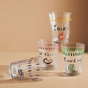 低至3折 封面玻璃杯$5.96Anthropologie 家居家饰新年大促 马克杯、餐具仅$4.46
