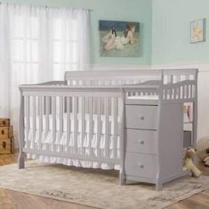 $210Dream On Me 5-in-1 Brody Convertible Crib with Changer, Pearl Grey