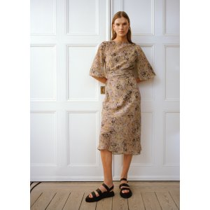 & Other StoriesPrinted Belted Midi Dress