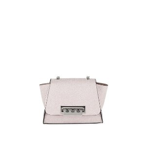 Zac Zac PosenEartha Mini Glittered Chain Crossbody Bag - Silver Hardware