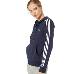 $14.53adidas Women's Essentials 3-stripes Single Jersey Full-zip Hoodie