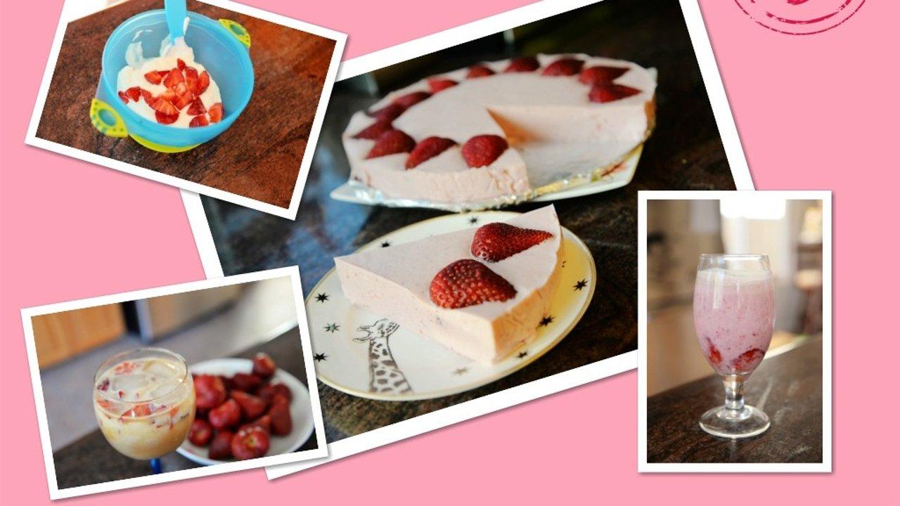 草莓季,让餐桌摆满粉嫩的草莓慕斯蛋糕+3款夏日饮品