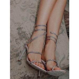 Rene Caovilla105MM 施华洛世奇水晶凉鞋