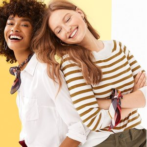 Up to 78% Off + Extra 30% Off + $20 Off $100LOFT Outlet Women's Clothing Clearance on Sale