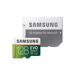 Samsung128GB 100MB/s (U3) MicroSD Evo Select Memory Card with Adapter (MB-ME128GA/AM)