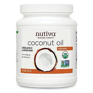 $9.59 + Free ShippingNutiva Organic,Steam Refined Coconut Oil,54 Fluid Ounces