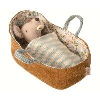 MAILEG 睡篮里的老鼠宝宝布艺玩偶