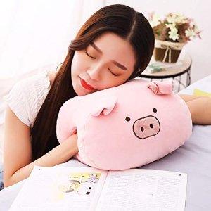 可爱小粉猪暖手枕