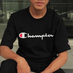 From $10 Champion Men's Classic Jersey Script T-Shirt