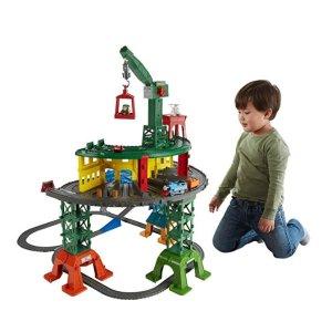 $49.99(原价$99.99) 近史低价Fisher-Price 托马斯和他的朋友们超级火车+轨道套装