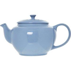 Le Creuset乳蓝色圆形茶壶 1L