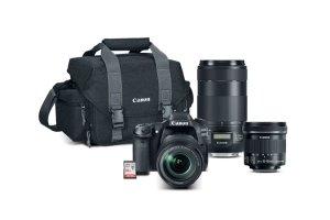 $1199Canon EOS 80D DSLR w/ 18-135mm + 10-18mm + 70-300mm Lenses Refurbished
