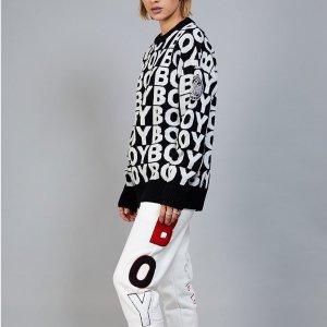 Prime到手¥649BOY LONDON 字母印花中性套头衫