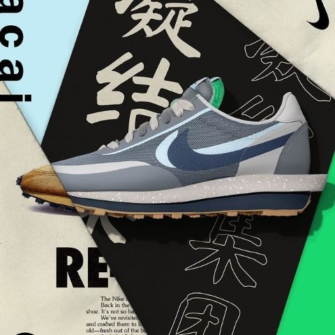 AJ5冰蓝正在发售!定价2602021年10月 Nike球鞋小报 SacaixClot灰蓝、Billie Eilish碧梨联名