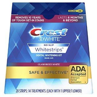 $19.99 (原价$44.99)Crest 3D White Glamorous 美白牙贴套装 14疗程 28片