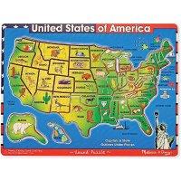 Melissa & Doug 美国地图拼图
