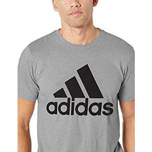 adidas Men's Athletics Badge Of Sport Tiny Script Tee $14.96
