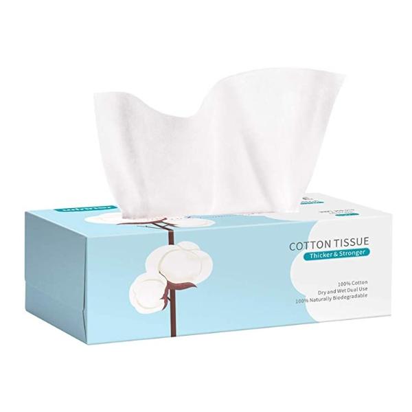 盒装平纹全棉柔巾 1盒100张 2件