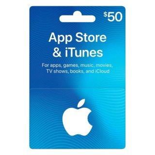 $40App Store & iTunes $50 礼卡
