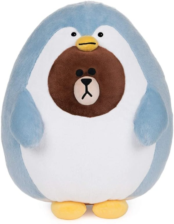 GUND LINE Friends Pengo Brown Penguin Bear Plush Stuffed Animal, 12""