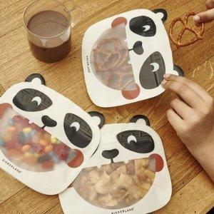Kikkerland熊猫塑封袋3只