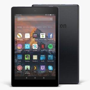 现价£59(原价£79)Fire HD 8平板 (8吋高清屏幕, Wi-Fi, 16GB) 4色可选