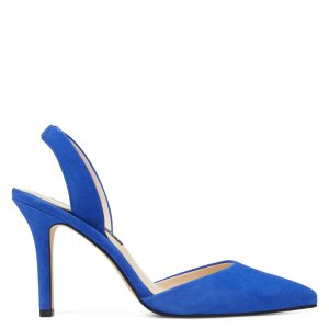 Nine WestMeredith Pointy Toe Slingbacks - Blue Iris Suede