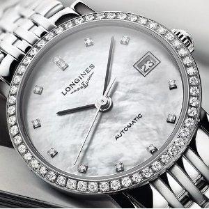 $2675LONGINES Elegant Mother of Pearl Diamond Automatic Ladies Watch L43090876