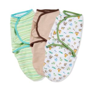 仅$10.59好价再来: Summer Infant 全棉婴儿安全包巾3个装