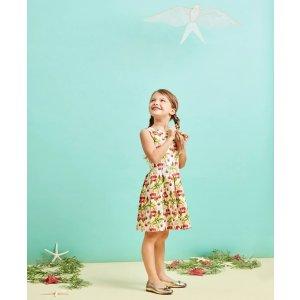 Girls Cherry Print Cotton Sleeveless Dress - Brooks Brothers