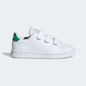 低至5折+额外8折+包邮adidas 儿童产品清仓区特卖 封面绿尾魔术贴才$25