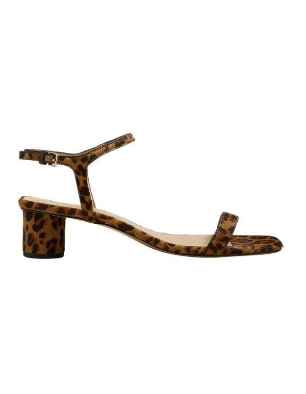 Hazel豹纹方头高跟鞋