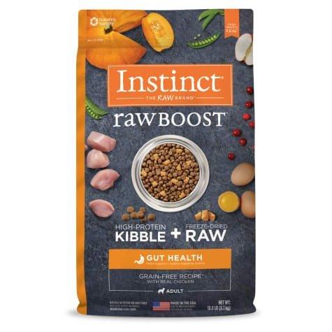 Raw Boost系列 鸡肉味无谷冻干肠道健康狗粮 18磅