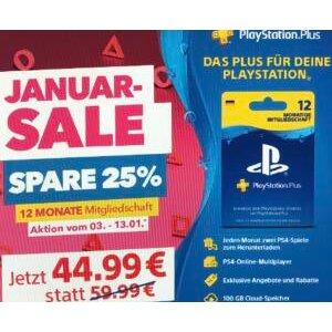每月免费游戏、多人在线游戏Sony PlayStation Plus 全年会员史低75折